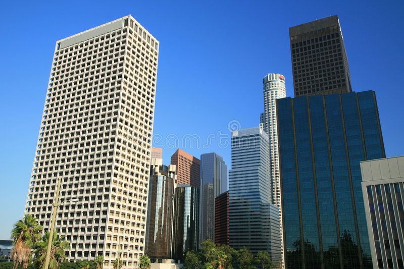Los Angeles business district stock image