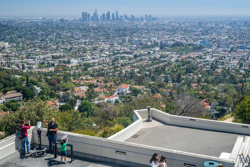 Griffith Park Observatory in Los Angeles royalty free stock images
