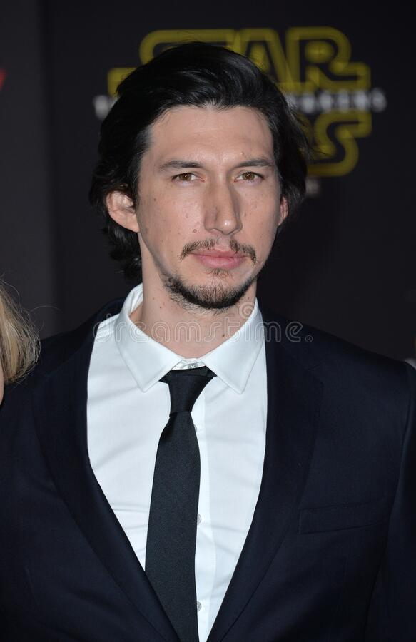 Adam Driver. LOS ANGELES, CA - DECEMBER 14, 2015: Actor Adam Driver at the world premiere of \'Star Wars: The Force Awakens\' on Hollywood Boulevard royalty free stock photo