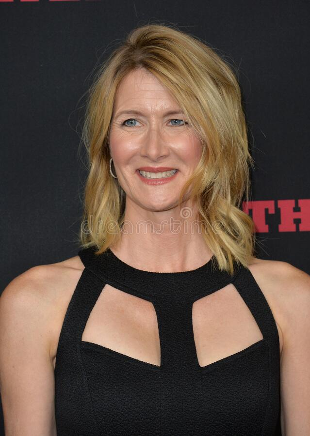 Laura Dern. LOS ANGELES, CA - DECEMBER 7, 2015: Actress Laura Dern at the premiere \'The Hateful Eight stock photography
