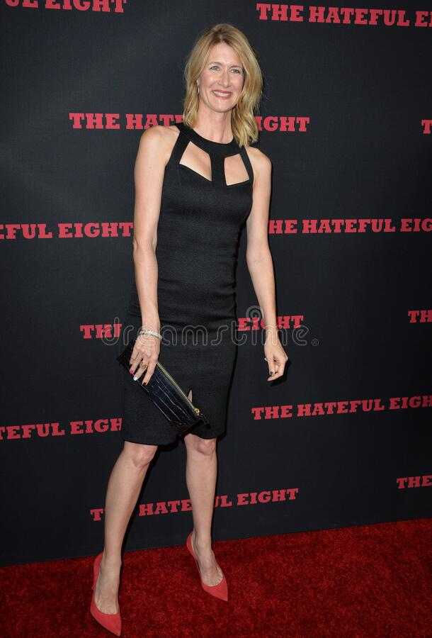 Laura Dern. LOS ANGELES, CA - DECEMBER 7, 2015: Actress Laura Dern at the premiere \'The Hateful Eight royalty free stock photography