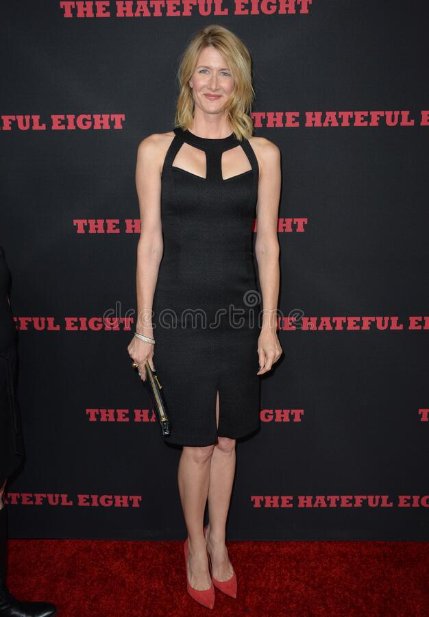 Laura Dern. LOS ANGELES, CA - DECEMBER 7, 2015: Actress Laura Dern at the premiere \'The Hateful Eight royalty free stock photo