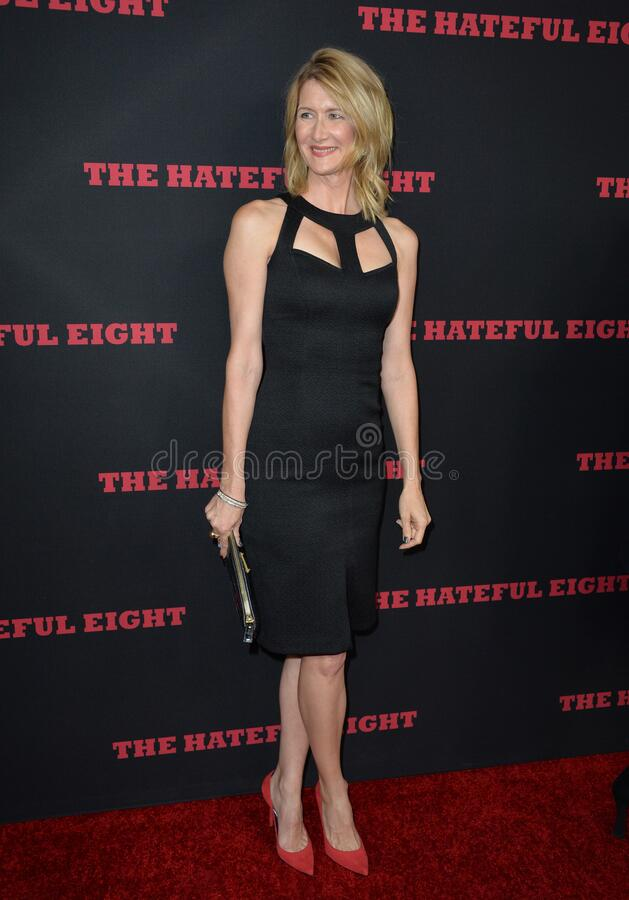 Laura Dern. LOS ANGELES, CA - DECEMBER 7, 2015: Actress Laura Dern at the premiere \'The Hateful Eight stock image