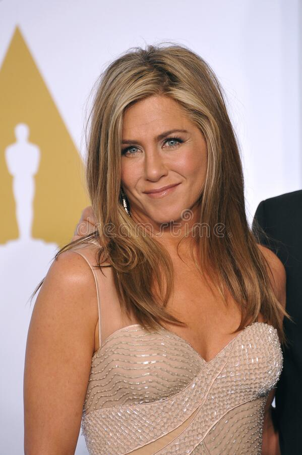 Jennifer Aniston. LOS ANGELES, CA - FEBRUARY 22, 2015: Jennifer Aniston at the 87th Annual Academy Awards at the Dolby Theatre, Hollywood royalty free stock images