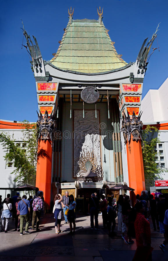 Los Angeles, CA. Grauman's Chinese theater. Grauman's Chinese theater — cinema 1162 seats located on Hollywood Boulevard in Los Angeles. The building was stock photography