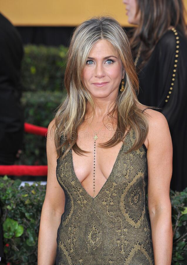 Jennifer Aniston. LOS ANGELES, CA - JANUARY 25, 2015: Jennifer Aniston at the 2015 Screen Actors Guild  Awards at the Shrine Auditorium royalty free stock photos