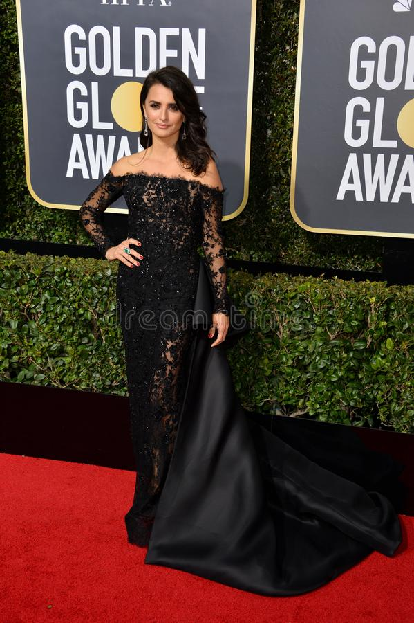 Penelope Cruz. LOS ANGELES, CA. January 07, 2018: Penelope Cruz at the 75th Annual Golden Globe Awards at the Beverly Hilton Hotel..© 2018 Paul Smith/ stock images