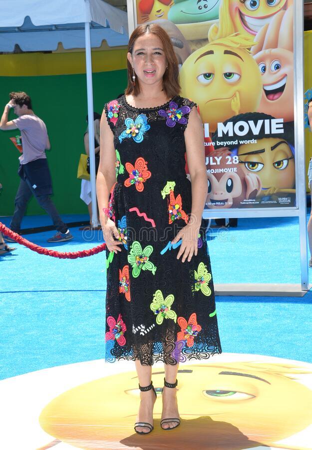 Maya Rudolph. LOS ANGELES, CA - July 23, 2017: Maya Rudolph at the world premiere for The Emoji Movie at the Regency Village Theatre, Westwood stock photos