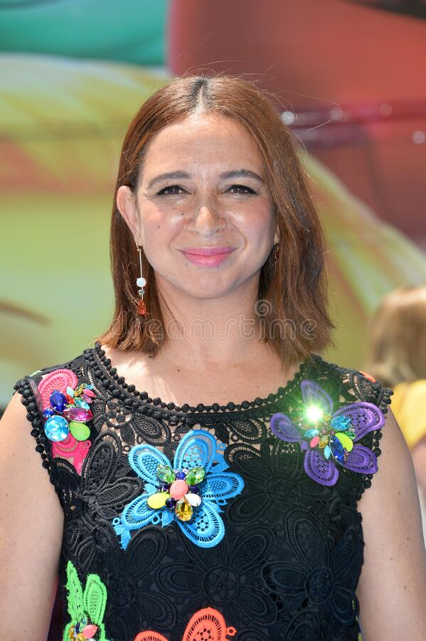 Maya Rudolph. LOS ANGELES, CA - July 23, 2017: Maya Rudolph at the world premiere for The Emoji Movie at the Regency Village Theatre, Westwood royalty free stock photography