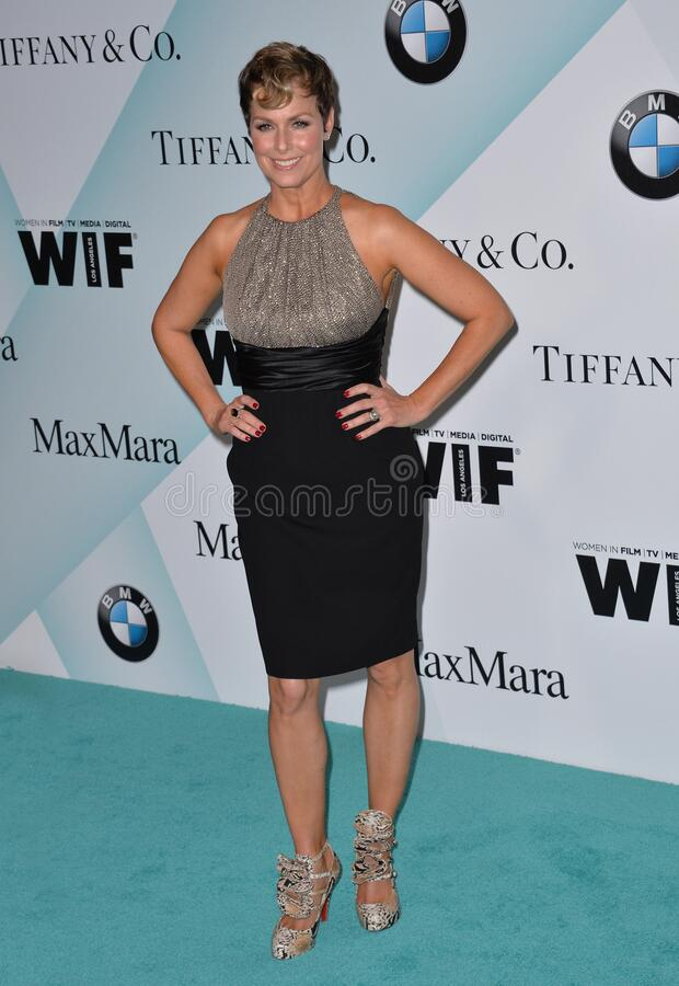 Melora Hardin. LOS ANGELES, CA - JUNE 16, 2015: Actress Melora Hardin at the Women in Film 2015 Crystal + Lucy Awards at the Hyatt Regency Century Plaza Hotel stock photography