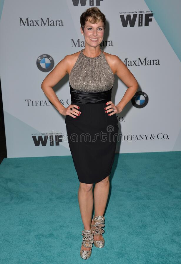 Melora Hardin. LOS ANGELES, CA - JUNE 16, 2015: Actress Melora Hardin at the Women in Film 2015 Crystal + Lucy Awards at the Hyatt Regency Century Plaza Hotel stock photo