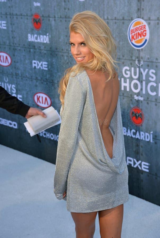 Charlotte McKinney. LOS ANGELES, CA - JUNE 7, 2015: Actress/model Charlotte McKinney at Spike TV\'s 2015 Guys Choice Awards at Sony Studios, Culver City stock photos