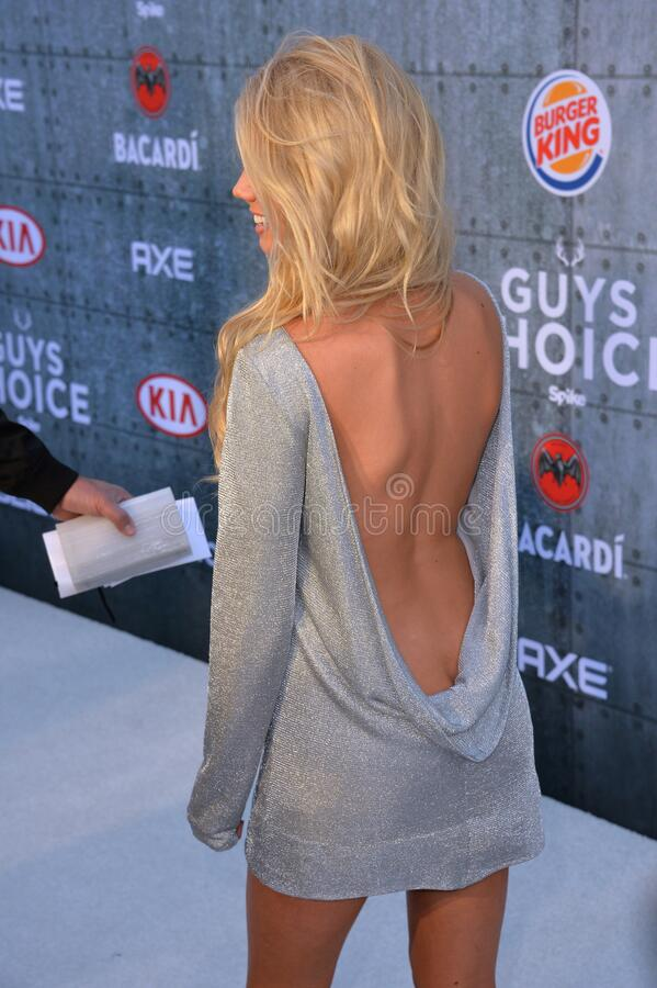 Charlotte McKinney. LOS ANGELES, CA - JUNE 7, 2015: Actress/model Charlotte McKinney at Spike TV\'s 2015 Guys Choice Awards at Sony Studios, Culver City royalty free stock photo