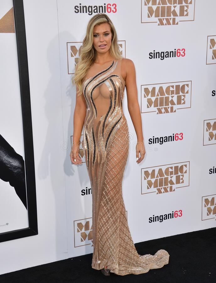 Samantha Hoopes. LOS ANGELES, CA - JUNE 25, 2015: Samantha Hoopes at the world premiere of Magic Mike XXL at the TCL Chinese Theatre, Hollywood royalty free stock image