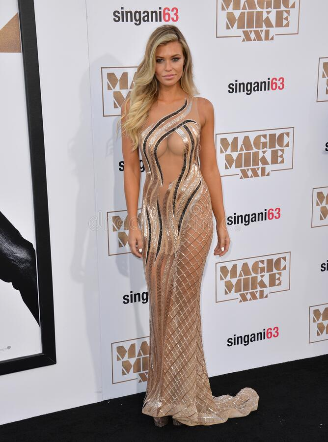 Samantha Hoopes. LOS ANGELES, CA - JUNE 25, 2015: Samantha Hoopes at the world premiere of Magic Mike XXL at the TCL Chinese Theatre, Hollywood stock photos