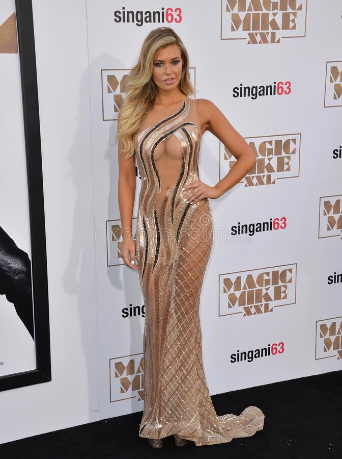 Samantha Hoopes. LOS ANGELES, CA - JUNE 25, 2015: Samantha Hoopes at the world premiere of \'Magic Mike XXL\' at the TCL Chinese Theatre, Hollywood stock photography