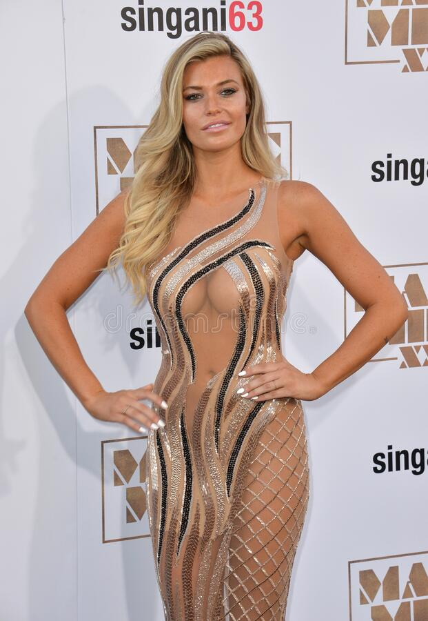 Samantha Hoopes. LOS ANGELES, CA - JUNE 25, 2015: Samantha Hoopes at the world premiere of \'Magic Mike XXL\' at the TCL Chinese Theatre, Hollywood royalty free stock photo