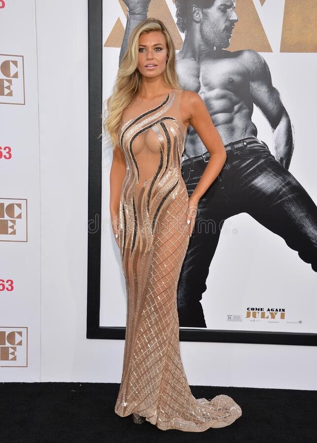 Samantha Hoopes. LOS ANGELES, CA - JUNE 25, 2015: Samantha Hoopes at the world premiere of `Magic Mike XXL` at the TCL Chinese Theatre, Hollywood royalty free stock images