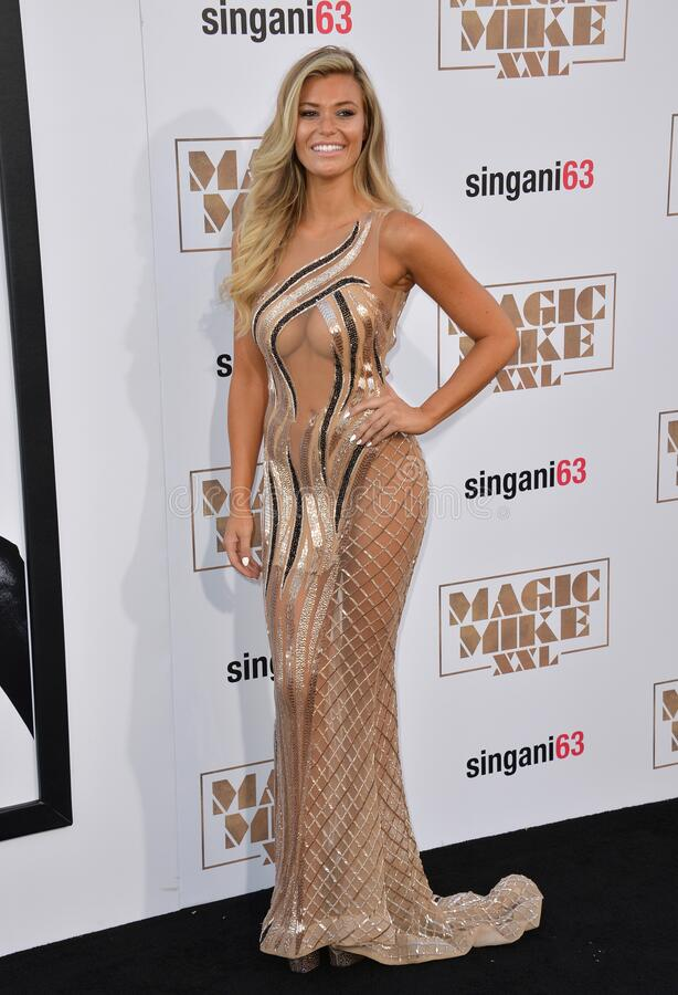 Samantha Hoopes. LOS ANGELES, CA - JUNE 25, 2015: Samantha Hoopes at the world premiere of `Magic Mike XXL` at the TCL Chinese Theatre, Hollywood stock images