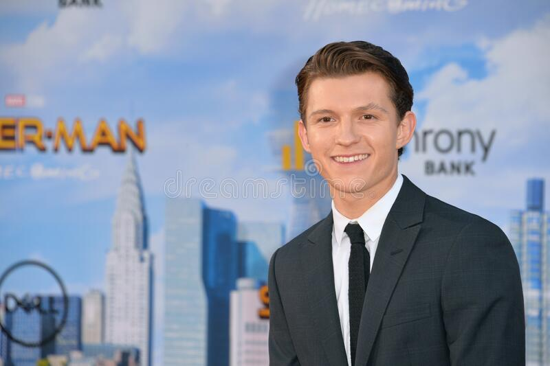 Tom Holland. LOS ANGELES, CA - June 28, 2017: Tom Holland at the world premiere for Spider-Man: Homecoming at the TCL Chinese Theatre royalty free stock photos