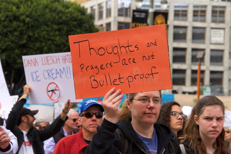 March for Our Lives Los Angeles Event stock photo