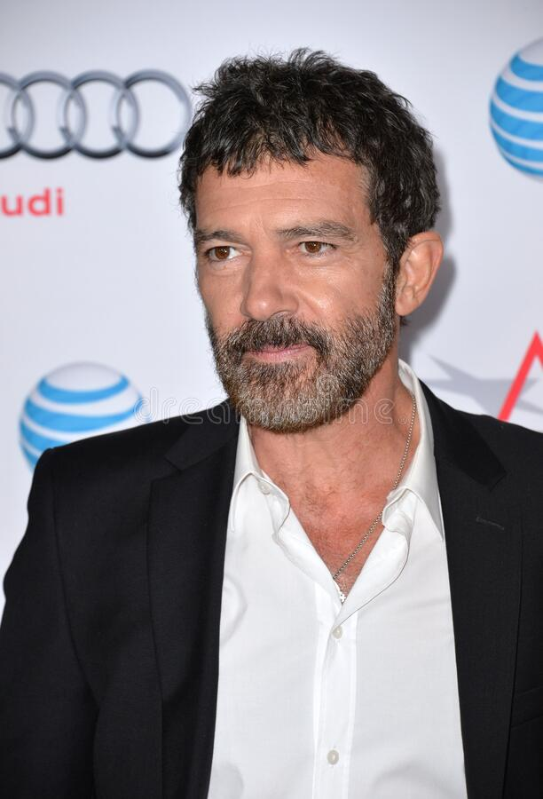Antonio Banderas. LOS ANGELES, CA - NOVEMBER 9, 2015: Actor Antonio Banderas at the premiere of his movie \'The 33\', part of the AFI FEST 2015, at the TCL royalty free stock photo