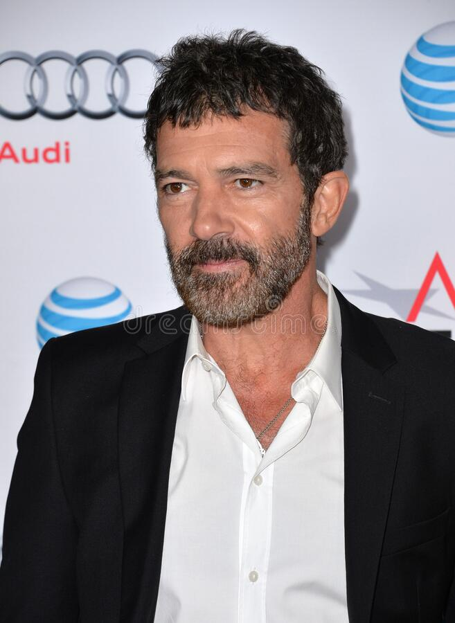Antonio Banderas. LOS ANGELES, CA - NOVEMBER 9, 2015: Actor Antonio Banderas at the premiere of his movie \'The 33\', part of the AFI FEST 2015, at the TCL royalty free stock photos