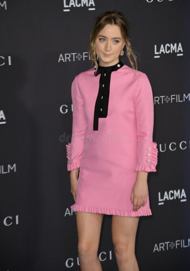 Saoirse Ronan. LOS ANGELES, CA - NOVEMBER 7, 2015: Actress Saoirse Ronan at the 2015 LACMA Art+Film Gala at the Los Angeles County Museum of Art royalty free stock photography
