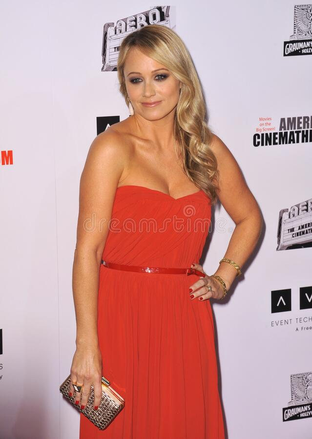Christine Taylor. LOS ANGELES, CA - November 15, 2012: Christine Taylor at the 26th Annual American Cinematheque Awards Ceremony honoring her husband Ben Stiller royalty free stock photos