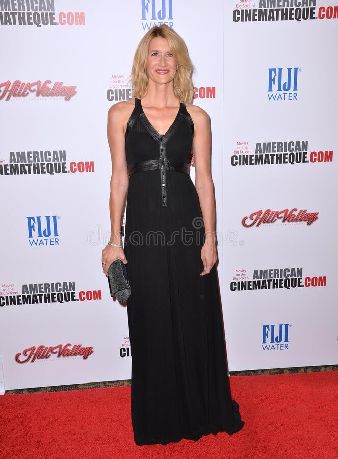Laura Dern. LOS ANGELES, CA - OCTOBER 30, 2015: Actress Laura Dern at the American Cinematheque 2015 Award Show at the Century Plaza Hotel stock photography