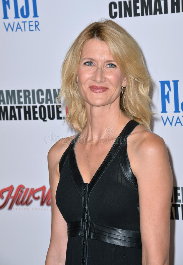 Laura Dern. LOS ANGELES, CA - OCTOBER 30, 2015: Actress Laura Dern at the American Cinematheque 2015 Award Show at the Century Plaza Hotel stock photos