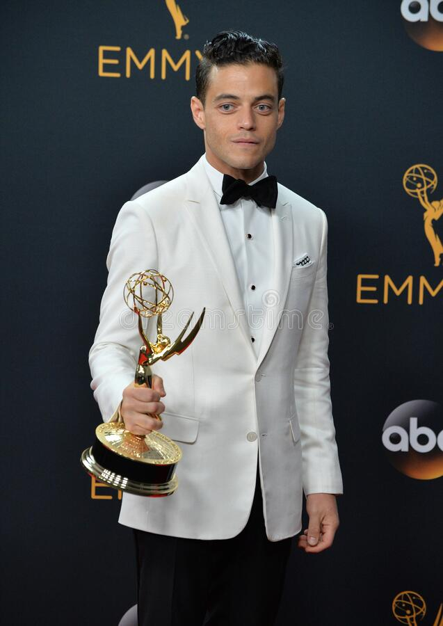 Rami Malek. LOS ANGELES, CA. September 18, 2016: Actor Rami Malek at the 68th Primetime Emmy Awards at the Microsoft Theatre L.A. Live stock photos