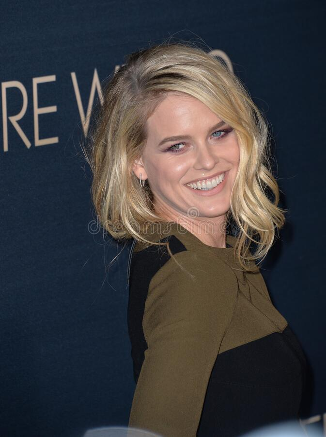Alice Eve. LOS ANGELES, CA - SEPTEMBER 2, 2015: Alice Eve at the Los Angeles premiere of her movie \'Before We Go\' at the Arclight Theatre, Hollywood royalty free stock photos
