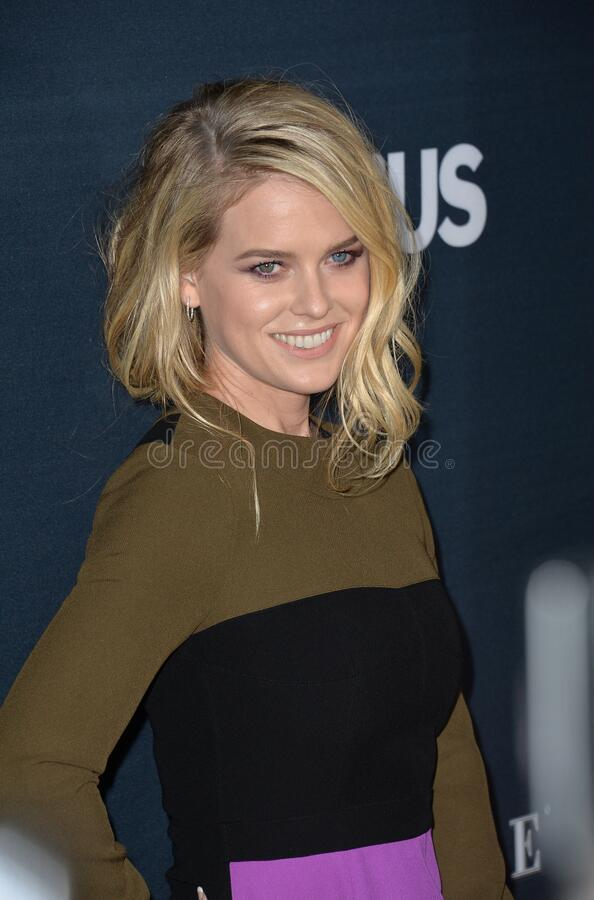 Alice Eve. LOS ANGELES, CA - SEPTEMBER 2, 2015: Alice Eve at the Los Angeles premiere of her movie \'Before We Go\' at the Arclight Theatre, Hollywood stock image