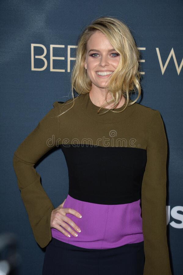 Alice Eve. LOS ANGELES, CA - SEPTEMBER 2, 2015: Alice Eve at the Los Angeles premiere of her movie \'Before We Go\' at the Arclight Theatre, Hollywood stock photography