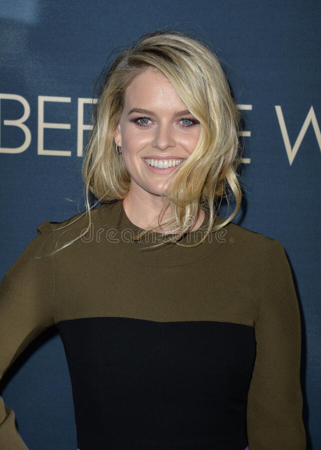 Alice Eve. LOS ANGELES, CA - SEPTEMBER 2, 2015: Alice Eve at the Los Angeles premiere of her movie \'Before We Go\' at the Arclight Theatre, Hollywood stock images