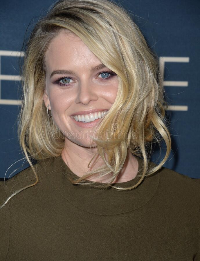 Alice Eve. LOS ANGELES, CA - SEPTEMBER 2, 2015: Alice Eve at the Los Angeles premiere of her movie \'Before We Go\' at the Arclight Theatre, Hollywood stock photos