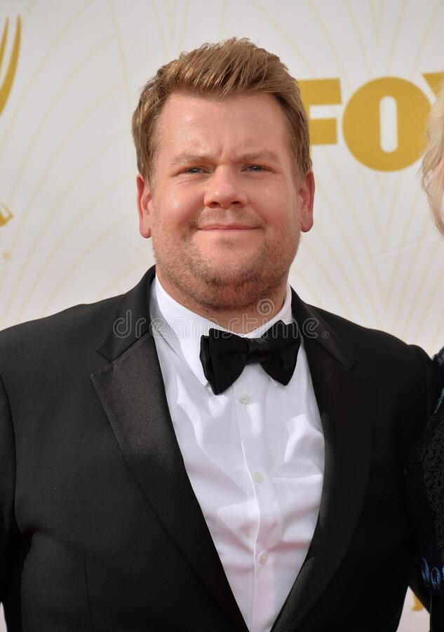 James Corden. LOS ANGELES, CA - SEPTEMBER 20, 2015: James Corden at the 67th Primetime Emmy Awards at the Microsoft Theatre LA Live royalty free stock photography