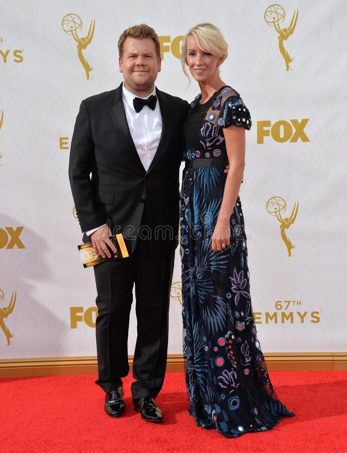 James Corden. LOS ANGELES, CA - SEPTEMBER 20, 2015: James Corden at the 67th Primetime Emmy Awards at the Microsoft Theatre LA Live royalty free stock images