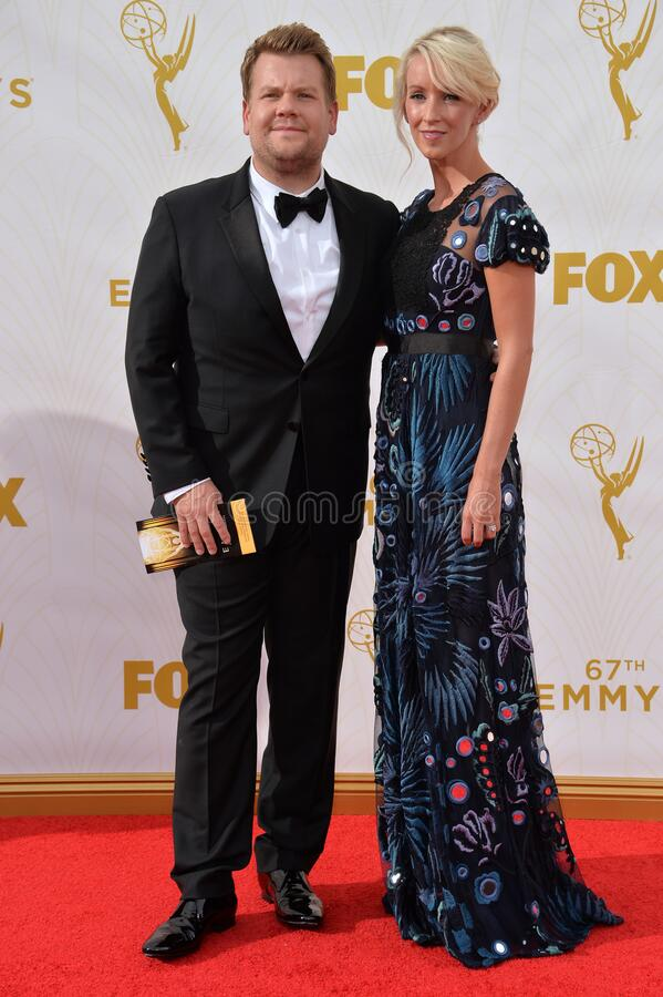 James Corden. LOS ANGELES, CA - SEPTEMBER 20, 2015: James Corden at the 67th Primetime Emmy Awards at the Microsoft Theatre LA Live stock photo