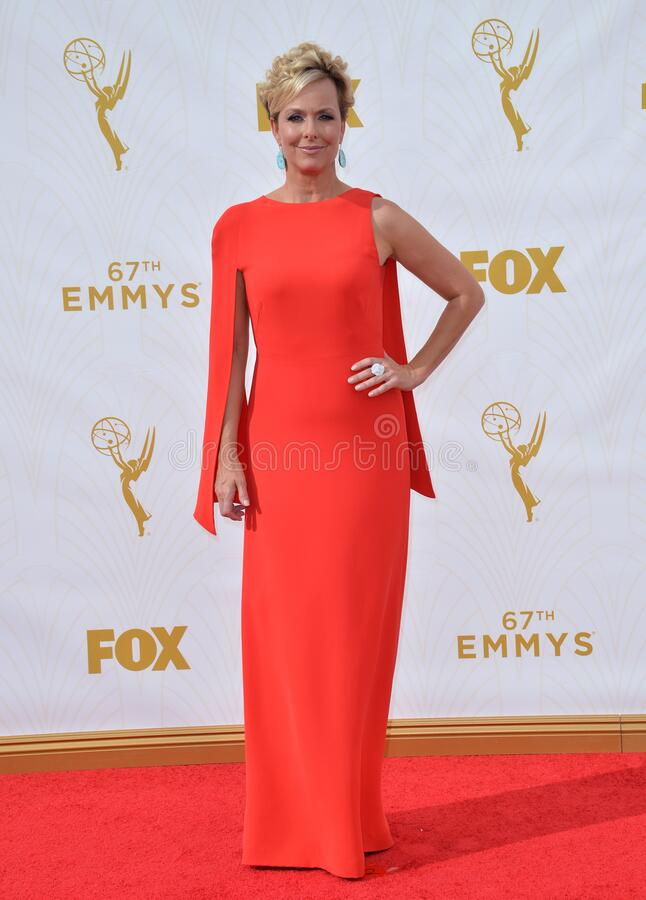 Melora Hardin. LOS ANGELES, CA - SEPTEMBER 20, 2015: Melora Hardin at the 67th Primetime Emmy Awards at the Microsoft Theatre LA Live stock images