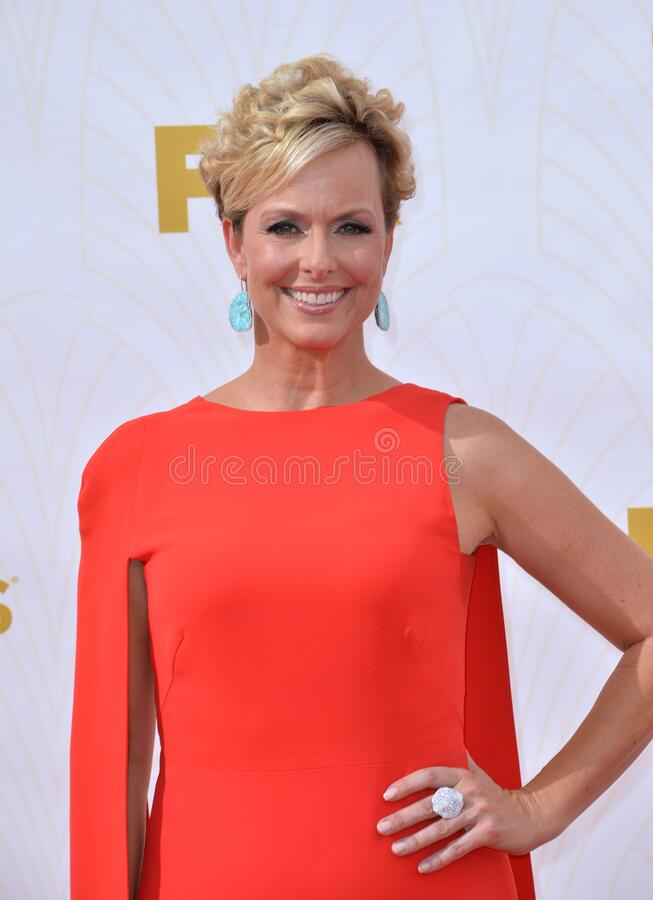 Melora Hardin. LOS ANGELES, CA - SEPTEMBER 20, 2015: Melora Hardin at the 67th Primetime Emmy Awards at the Microsoft Theatre LA Live royalty free stock image