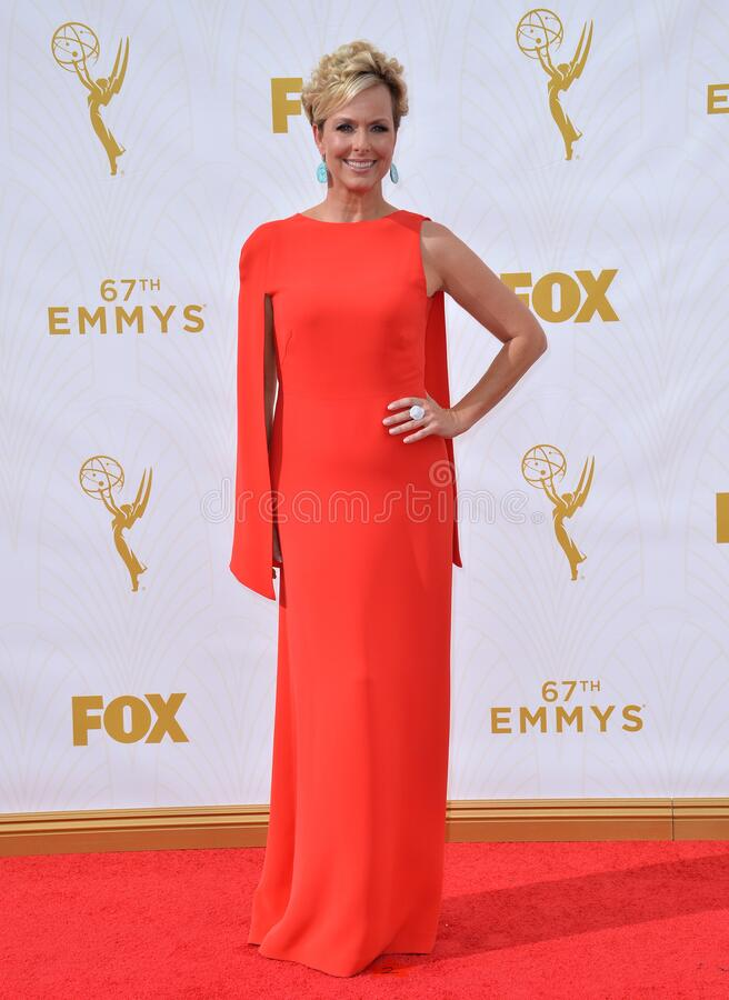 Melora Hardin. LOS ANGELES, CA - SEPTEMBER 20, 2015: Melora Hardin at the 67th Primetime Emmy Awards at the Microsoft Theatre LA Live royalty free stock photos