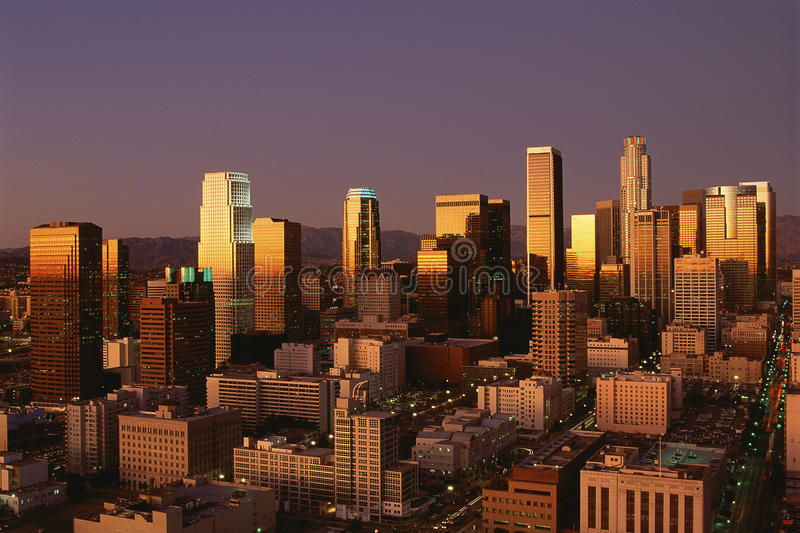 Download Los Angeles, CA Skyline Royalty Free Stock Photos - Image: 23147728