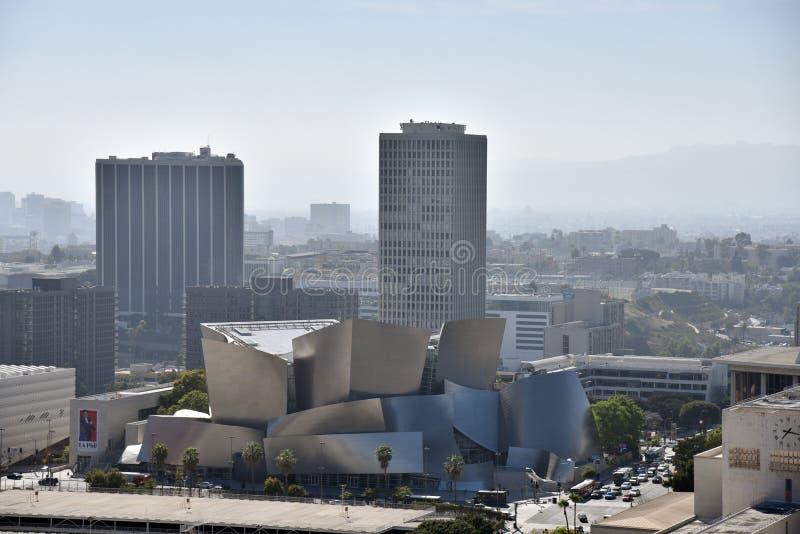 Aeriel view of Walt Disney Concert Hall stock images