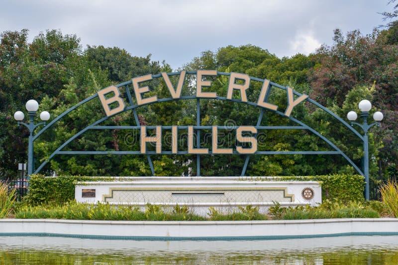 Los Angeles, Califórnia, EUA - 5 de janeiro de 2019: Beverly Hills Sign imagem de stock