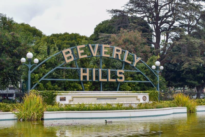 Los Angeles, Califórnia, EUA - 5 de janeiro de 2019: Beverly Hills Sign fotos de stock royalty free