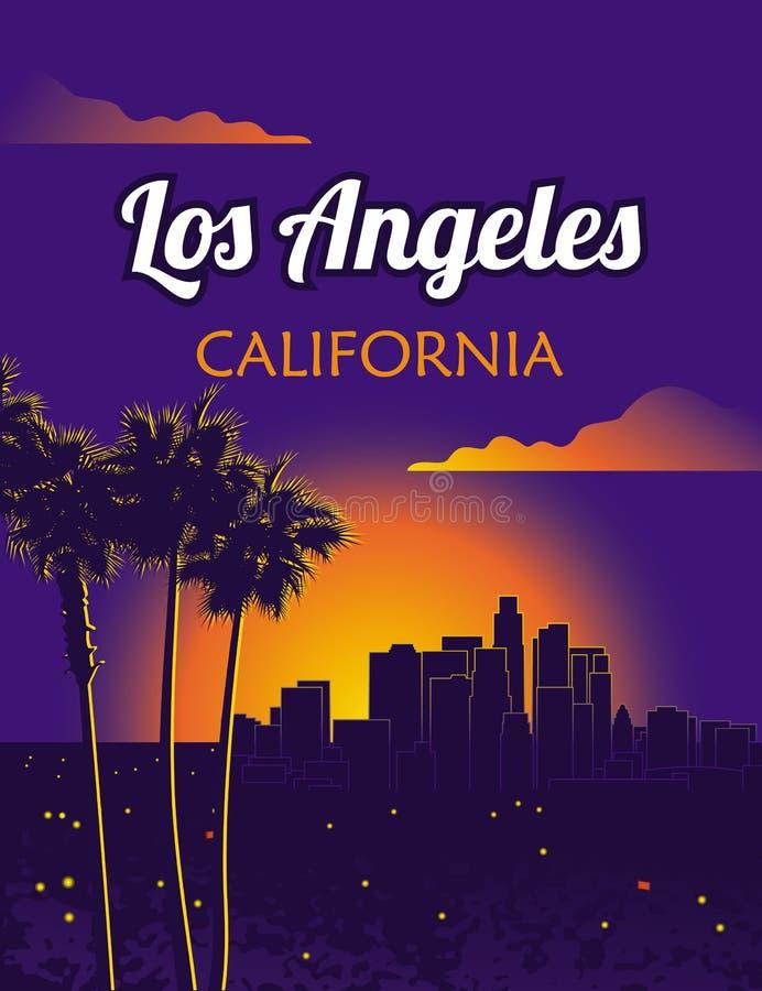 Los Angeles Californië royalty-vrije illustratie