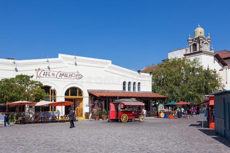 LOS ANGELES, CALIFORNIË - AUGUSTUS 10: De ingang van de voedselkar aan Olve stock fotografie