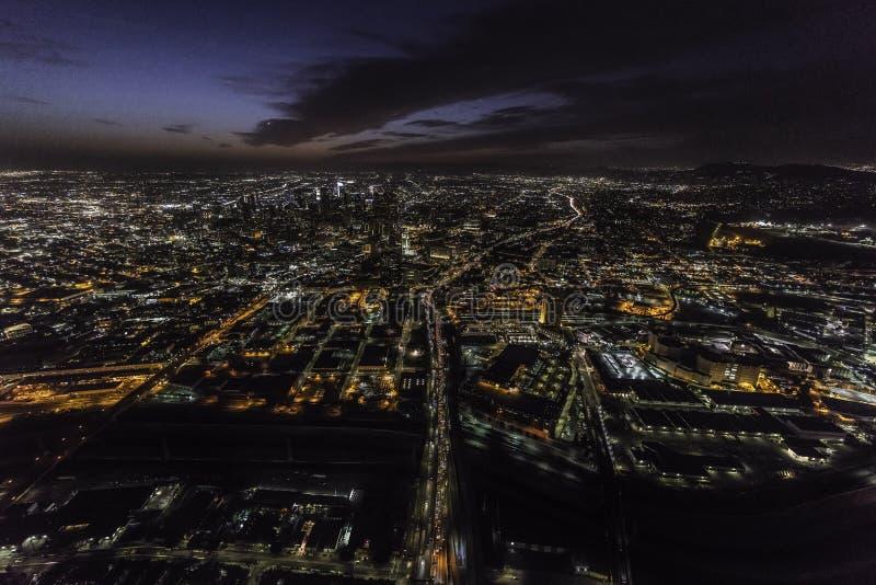 Los Angeles Californië 101 de Antenne van de Snelwegnacht royalty-vrije stock fotografie